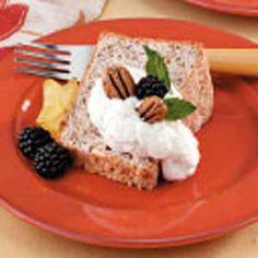 Pecan Angel Food Cake Recipe from Taste of Home