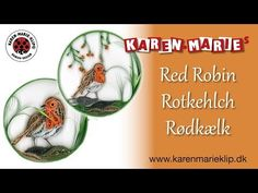 Quilling Red Robin/ Rotkehlch/ Rødkælk - Karen Marie Klip & Papir - YouTube Quilling Cards, Quilling Designs, Paper Quilling, Snowflake Ornaments, Snowflakes, Quilled Creations, Circle Template, Paper Strips, Cool Words