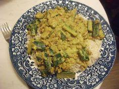 Zucchinigeschnetzeltes mit Reis