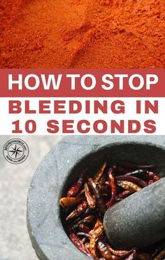 How To Stop Bleeding In An Emergency In 10 Seconds -- Among its many health benefits, cayenne pepper is also a great herb for the treating of wounds or lacerations. This may come as bit of a surprise to many. Cayenne pepper however is a multi-faceted herb. #prepping #survival #allnatural #homeremedy