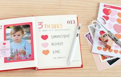Journaling Prompt #41  What three things do you want in a relationship? Write these down and decorate this page however you like.    Visit our Gorgeous Things here for Stickers, Stamps and stationery goodies.