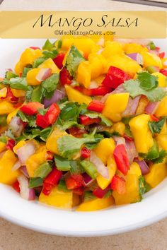 Mango Salsa, also recipes for Mango Curry Chicken Skewers and Roasted Corn Salsa.