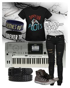 """""""untitled #11"""" by phieo-thundersnow ❤ liked on Polyvore featuring Yamaha, Denim of Virtue, Converse, Miss Selfridge, women's clothing, women, female, woman, misses and juniors"""