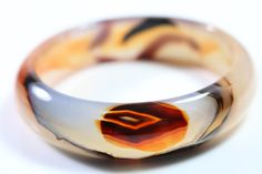 pure natural agate bangle ( 56 mm ) Agate, Bangles, Wedding Rings, Pure Products, Engagement Rings, Natural, Jewelry, Rings For Engagement, Jewlery