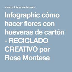 Infographic cómo hacer flores con hueveras de cartón - RECICLADO CREATIVO por Rosa Montesa