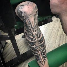 45 Attractive Big Tattoo Ideas For Men tattoo ideas big 45 Attractive Big Tattoo Ideas For Men Tatto Skull, Tatoo 3d, Skull Sleeve Tattoos, Sick Tattoo, Badass Tattoos, Cool Tattoos, Warrior Tattoos, Tattoo Ink, Manga Tattoo