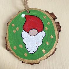 Rustic Christmas Santa gnome ornament | Etsy Christmas Gnome, Rustic Christmas, Gnome Ornaments, Christmas Ornaments, Christmas Medley, Beard Shapes, Whimsical Fashion, Hand Painted, Holiday Decor