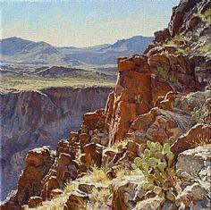 Above Dark Canyon by Mark Haworth Oil ~ 20 x 20