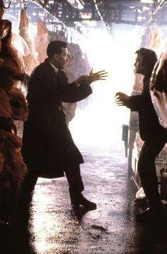 "Yusaku Matsuda and Michael Douglas in ""Black Rain"" (1989). DIRECTOR: Ridley Scott."