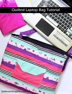 How to Make a Laptop Bag - Sewing Tutorial