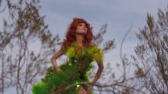 cellophane dress, plastic dress, recycle dress, art garment, green, emerald, cactus, redhead, unconventional fashion Flockflockflock by Jennifer Henry behind-the-scenes shoot for Springs Preserve benefit