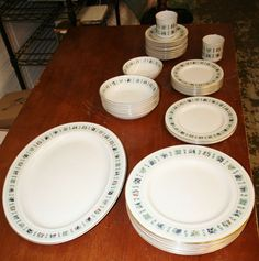 37 Pc Set Royal Doulton Tapestry Dinner Plates Bowls Serving TC 1024 England
