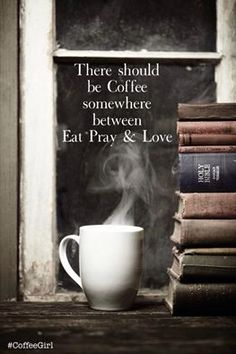 2 of my favorite things - coffee and books. My dream is to own a bookstore/coffee shop. Coffee Break, I Love Coffee, My Coffee, Morning Coffee, Coffee Shop, Coffee Cups, Coffee Mornings, Drink Coffee, Morning Work