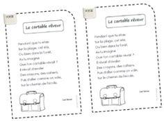 * Poésie: le cartable rêveur (C.Norac) - ★Meroute en clis★
