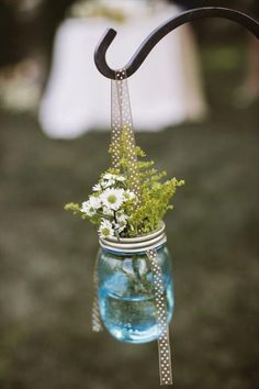 mason jar flower pot