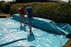 Planen, einen Swimmingpool mit Paletten bauen 3