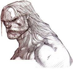 Thor Sketch. Art by Comic Artist Joe Madureira #Comics #Illustration #Drawing