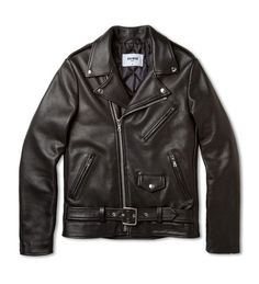 Channel your inner James Dean with a black leather moto jacket. Mens Essentials, Fashion Essentials, James Dean Style, Best Shoe Stores, Gym Tank Tops, Matching Shirts, Fashion Advice, Everyday Fashion, Leather Jacket