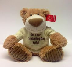 A great Christening gift Personalised Teddy Bears, Christening Gifts, Toys, Animals, Personalized Teddy Bears, Baptism Presents, Activity Toys, Animales, Animaux