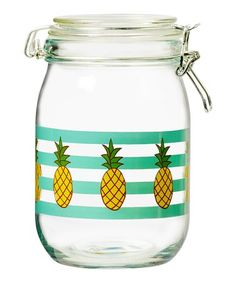Love this Pineapple Hermetic Preserving Glass Canister on #zulily! #zulilyfinds
