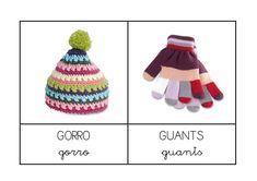 Album Archive - Vocabulari i memory: roba d'hivern My Memory, Crochet Hats, Beanie, Memories, Album, Bingo, English, Christmas, School