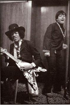Jimi Hendrix and Eric Burdon in 1969.