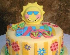 Summer Fondant Cake Topper