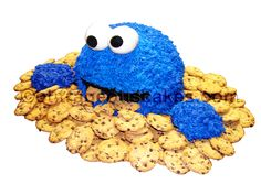 - Cookie Monster cake