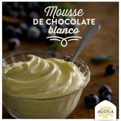 Mousse de #chocolate blanco