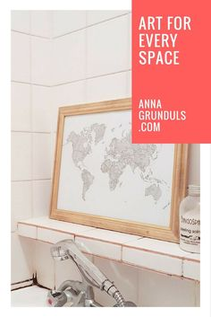 What is the most hilarious place you would like to put art on? There's something out there for every space! At Anna Grunduls Design you'll be able to find amazing pieces to customize! Color in the poster in your favorite colors or to match the accents of your kitchen ;)