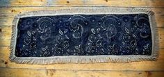 pure silk runner, tablecloth on the table  antique