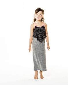Great Maxi dress in grey and black