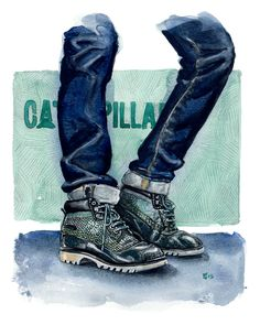CAT Footwear fashion illustration