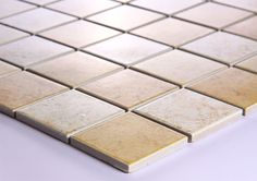Beige Porcelain Square Mosaic Tiles Wall Designs Ceramic Tile Flooring Kitchen Backsplash DTC003