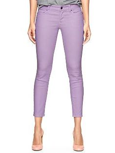 Bought these in orchid frost and mint recently, love them!! Can't beat the price [1969 Always Skinny Skimmer Jeans - Gap]