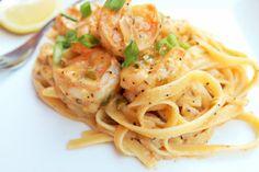 Greek Shrimp Alfredo-Creole Contessa