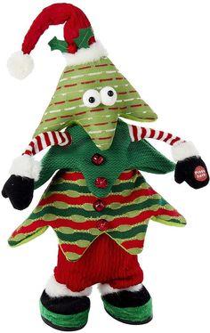 Cuddle Barn Animated Kris Jingle Plush Toy Singing Deck The Halls ...