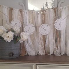 Classic Child Bathe Doily Banner, Child Bathe Banner Concepts,  Lace Paper Doily Ga....  Learn more at the picture link