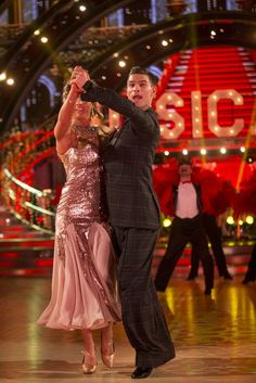 Strictly Come Dancing 2017 - Gemma and Aljaz - Quickstep Strictly Come Dancing 2017, Gemma Atkinson, Ballroom Dance, Competition, Crushes, Entertaining, Formal Dresses, Hello Dolly, Bbc