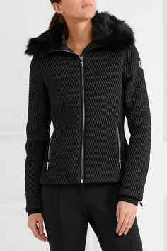 Fusalp - Montana Faux Fur-trimmed Quilted Ski Jacket - Black - FR40