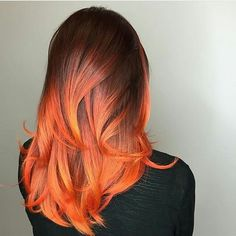 37 Hottest Ombré Hair Color Ideas of 2019 - Style My Hairs Dye My Hair, New Hair, Grey Balayage, Orange Ombre Hair, Red Ombre, Cabelo Ombre Hair, Cheveux Oranges, Fire Hair, Fire Ombre Hair