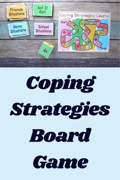 Give this coping strategies game a try to work on skills for managing emotions and staying calm! It includes a traditional board game but also a digital version for the computer (which is important for virtual and distance learning). Anger Management For Kids, Strategy Games, Board Games, Distance, Digital Prints, Homeschool, Boards, Calm, Traditional