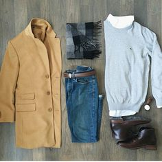 Love this flatlay @jrynehammons that camel coat is amazing.