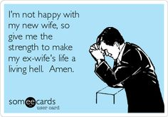 Hypocrite Christian men, that go out of their way to make their ex spouses life a living hell, there is no excuse for your actions.