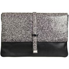 Malene Birger Puntina shiny clutch ($270) ❤ liked on Polyvore