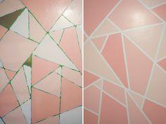 Office Makeover DIY Geometric Glitter Wall - Kaelah Bee by kbeeblog, via Flickr