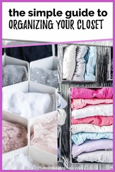 Use these simple bedroom closet organizing tips to get your closet clutter under control! You'll be amazed how much easier it is to find the clothes you're looking for. #fromhousetohome #closet #organization #storageideas #closetandlaundryroomdecor