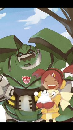 Bulkhead and sari from transformers animated