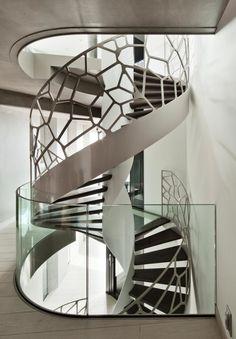 wendeltreppe dekoratives geländer design cells glas eestairs