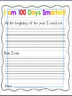 Wild About Teaching: 100 Day Writing (Freebie)!!! Maybe tweak it for older